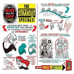 "Cool drawing tips - The Etherington Brothers (@etheringtonbrothers) on Instagram: ""Announcing a BRAN NEW mini-series of STRANSKI drawing and design tutorials starting VERY SOON to…"""