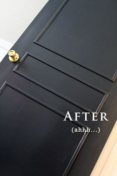 DIY door molding for flat hollow doors. my kind of diy!
