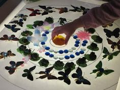 Light table mandalas - I'm thinking make a design on a transparency, use gems to fill it in...