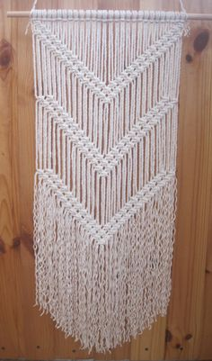 Macrame wall hanging - Simple macrame - Wall art - Wall decor - Handmade hanging -Modern macrame - Eco friendly decor - Weaving - Woven wall hanging - Boho - Wedding decor This simple macrame wall hanging is beautiful addition to any interior - home or office, or perfect gift for your