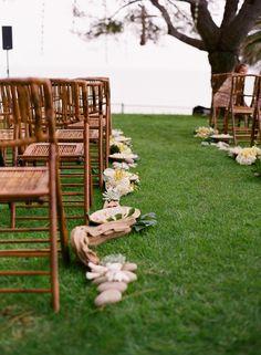 Driftwood and mixed organic elements line the aisle Wedding Poses, Wedding Themes, Wedding Designs, Wedding Events, Wedding Ceremony Seating, Wedding Ceremonies, Bright Wedding Colors, Bright Colors, Next Wedding