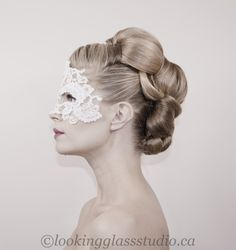 wedding updo, bridal hair www.lookingglasss...