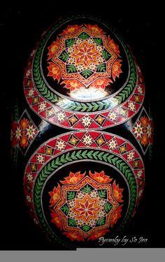 Fire Flower Rhea Ukrainian Easter Egg Pysanky By So Jeo