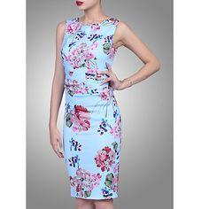 Buy Jolie Moi Floral Ruched Shift Dress, Blue Online at johnlewis.com