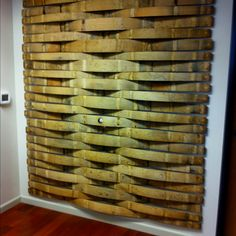 Wine barrel wall