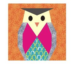 Owl #2 paper pieced ... by 3patch | Quilting Pattern
