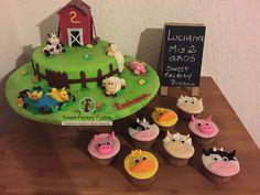 https://flic.kr/p/v7S2zL | 1 (6) | Pastel y cupcakes Granja Sweet Factory Puebla  Chef Luciana Proietti  Cake´s Designer www.sweetfactorypuebla.com