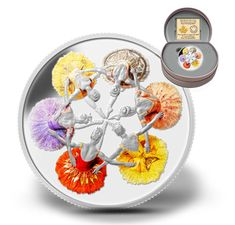 Canada 20 Dollars Silver Coin 2014 Anniversary of The Royal Winnipeg Ballet Mint Coins, Silver Coins, Ballet Real, Royal Ballet, Ballet Dancers, Coin Store, Canadian Coins, Coins For Sale, Gold Tips