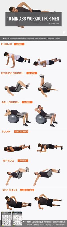 11 Best Beginner's Core and Ab Workouts for Men