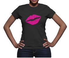 Smooches Tee - Abailable in 5 lip colors.