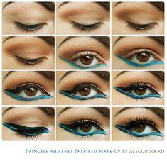 Princess Ahmanet Inspired Make-up! The Mummy Movie Egyptian Eye Makeup, Egypt Makeup, Cleopatra Makeup, Cleopatra Costume, Egyptian Costume, Mummy Makeup, Costume Makeup, Make Up Art, Eye Make Up