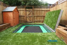 A hidden sunken trampoline??? This is exactly what I need! Maintain a big backyard but still have the trampoline you've always wanted!