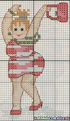 Танцовщицы и балерины - схемы вышивки крестом Woman Dancing Cross Stitch Pattern