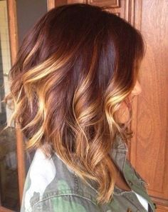 Super Cute Short Hairstyle. Brown and Blonde with a hint of red.