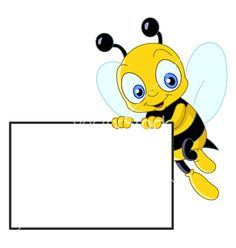 Cute bee with sign vector 447600 - by yayayoy on VectorStock®