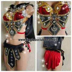Sexy Gladiator Warrior Princess Viking Theme by LipglossWear New Halloween Costumes, Rave Costumes, Festival Costumes, Burlesque Costumes, Belly Dance Costumes, Carnival Costumes, Girl Costumes, Festival Outfits, Clubbing Outfits