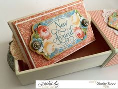 """""""New Arrival"""" mini album by Ginger in a gorgeous Precious Memories matchbook box #graphic45"""