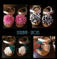 A creative way to use the same pair of baby shoes