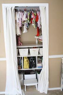 super creative for our small closet~