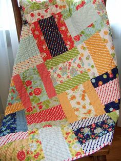 Happy-Go-Lucky Baby Girl/Toddler Quilt - Bonnie & Camille for Moda