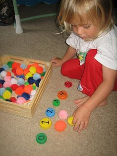 counting and number rec. sensory tub