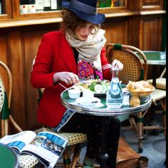 """street style in Paris documented by """"the satorialist"""""""