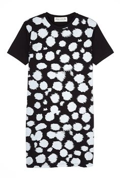 All Over Cheetah Tshirt Dress in Black (animal)   Jersey   Être Cécile