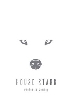 Poster. House Stark, winter is coming