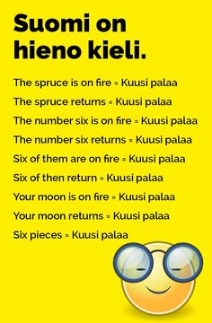 vitsit_suomi_on_hieno_kieli_2 Learn Finnish, Finnish Language, English Vocabulary, Funny Photos, Funny Texts, Finland, Best Quotes, Hilarious, Jokes