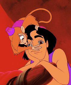 """*ABU & ALADDIN ~ Aladdin (1992).....""""Love at first sight!"""