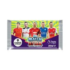 MATCH ATTAX EPL PREMIER LEAGUE 2016//17 TRADING CARDS PACK  x 5 **FREE DELIVERY**