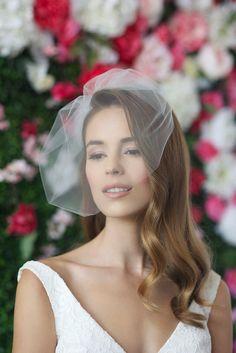 MARIE MEDIUM birdcage veil bird cage veil blusher veil