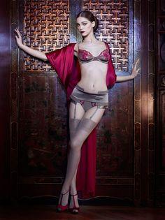 Model: Samantha Gradoville La Perla fall / winter 2012 'Oriental Suite' collection La Perla Dessous, La Perla Lingerie, Bridal Lingerie, Luxury Lingerie, Women Lingerie, Lingerie Styles, Sexy Lingerie, Lingerie Shoot, Fashion Lingerie