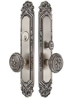 Antoinette Premium Mortise Entry Set with Louis XVI Round Knobs | House of Antique Hardware