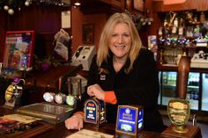 """""""It's a hard job but someone has to do it! Continuum CEO Juliana pulls a pint at the Rovers Broadway Shows, Broadway Plays"""