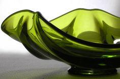 Rare 1960s Viking Art Glass Epic Green Bowl by GrannyDTreasures, $30.00
