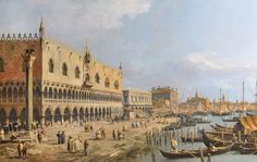 The Doge's Palace and Riva degli Schiavoni, Venice  by Canaletto  1730