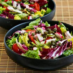 Recipe for Ottolenghi's Perfect Lettuce Salad with Radicchio, Radishes, Tomatoes, and Capers [from Kalyn's Kitchen]