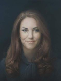 The National Portrait Gallery's first portrait of the Duchess of Cambridge by Paul Elmsley.  Unveiled 1-11-13.