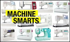 An overview of 3 categories of sewing machines: Mechanical, Electronic, Computerized.