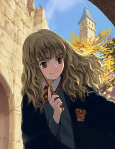 Image result for harry potter anime hermione
