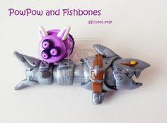 League of Legends Jinx guns PowPow and Fishbones by ambivalenc3.deviantart.com on @deviantART
