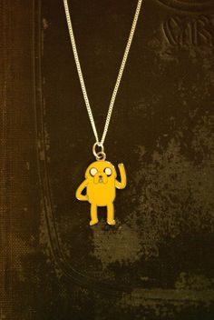 Adventure Time Jake silver necklace by Keepings on Etsy