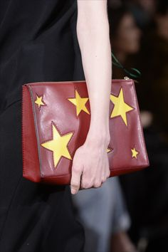 Stella McCartney Winter '14 Cavendish Clutch with patchwork stars.
