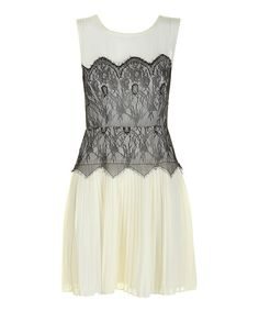 Another great find on #zulily! Cream & Black Lace Alannah Dress by Darling #zulilyfinds