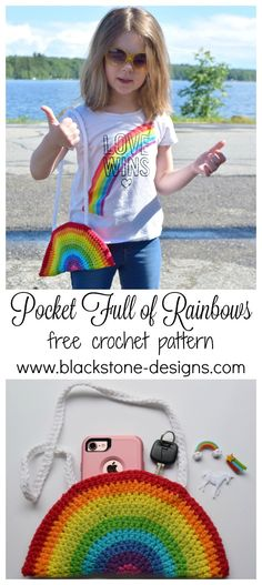 Pocket Full of Rainbows FREE crochet pattern from Blackstone Designs