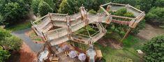 Czech Republic, Garden Bridge, Outdoor Structures, Cabin, Park, House Styles, Travelling, Cabins, Parks