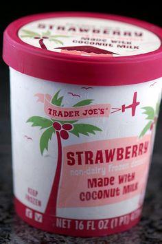 Trader Joes Strawberry Coconut Milk Ice Cream!