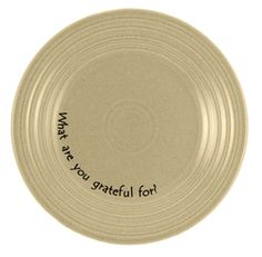 """""""what are you grateful for?"""" plates"""