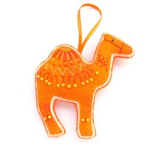 Christmas Camel Ornament/ Decoration - Orange, via Etsy.